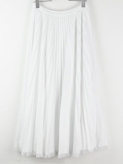 19SS コットンフリンジプリーツスカート