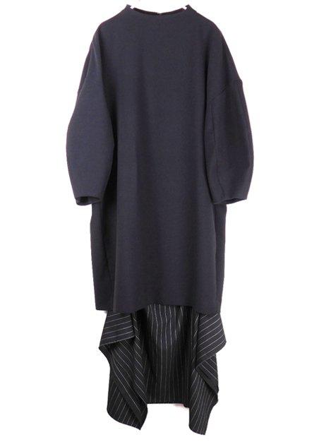 18SS ダブルクロス レイヤードドレス