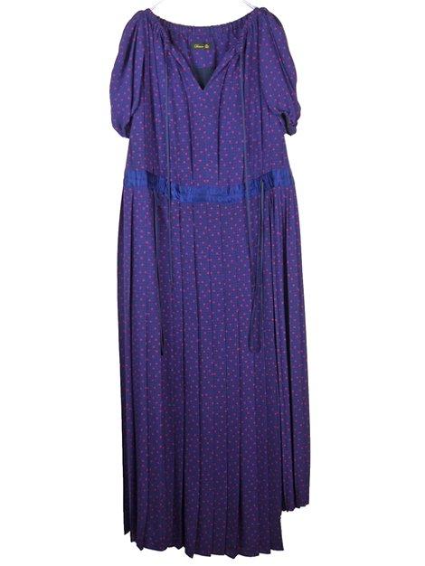 18AW ドットプリーツ ロングドレス