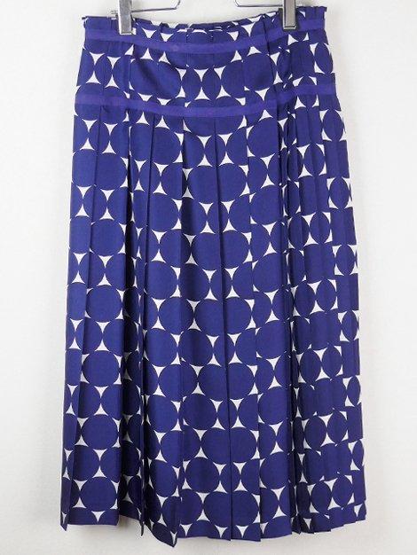 19SS ドットプリーツラップスカート