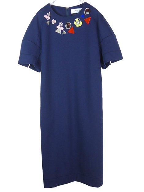 17SS 宝石ジャージードレス