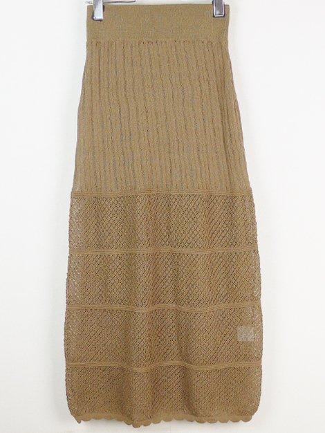 19SS かぎ編みニットスカート