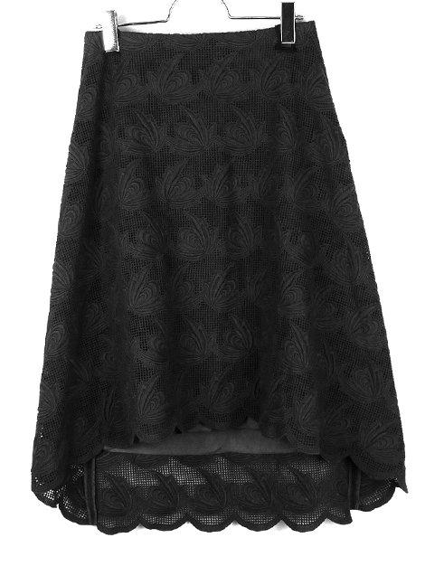 18SS エンブロイダリーバックジップスカート