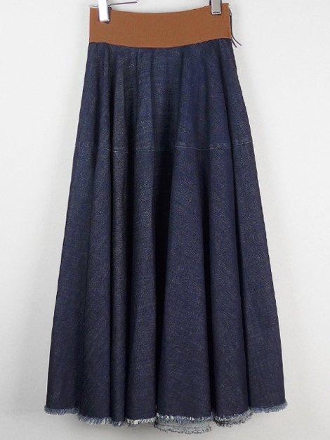 16SS ウエストゴムデニムスカート