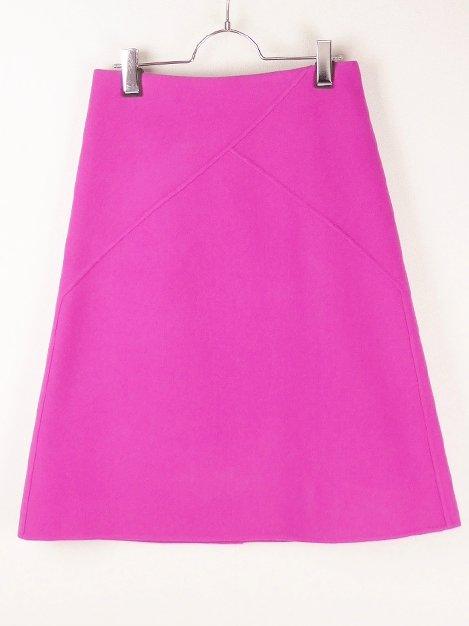 17AW ダブルフェイス バックジップスカート