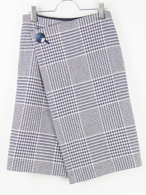 17AW グレンチェックラップスカート