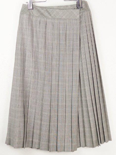 18AW チェックプリーツラップスカート