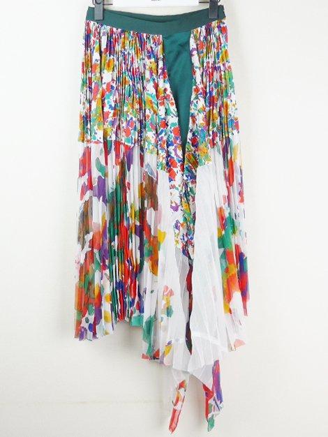 19SS フラワープリントプリーツスカート