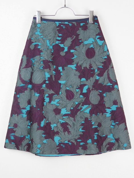 17AW フラワージャカードスカート