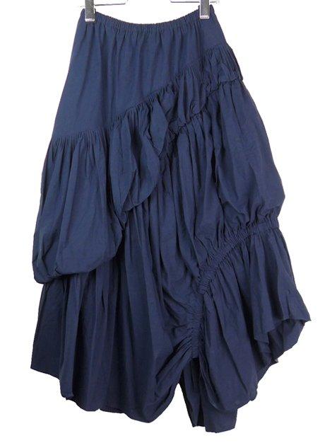 19SS アシンメトリーギャザースカート