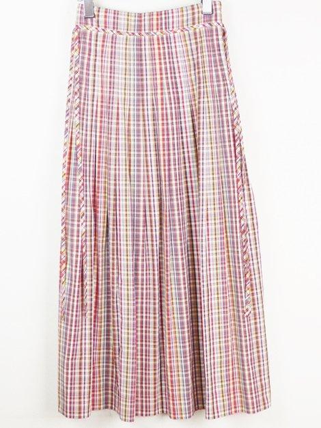 18SS マドラスチェックロングスカート