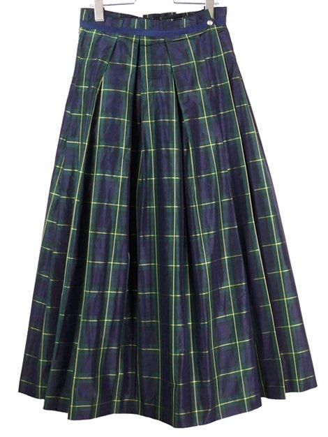18AW チェックロングスカート