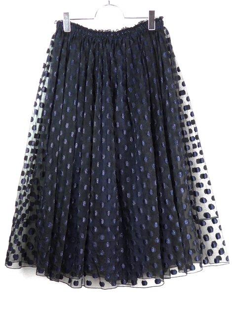 17AW ドットギャザースカート