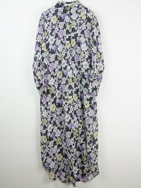 19SS フラワーシャツドレス