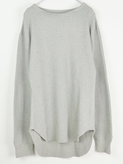 19AW COTTON WAFFLE THERMAL TOP