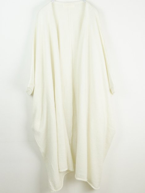 17AW KID-MOHAIR SHAGGY PROCESSING Gown
