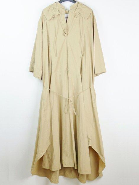 19AW ギャザーロングドレス