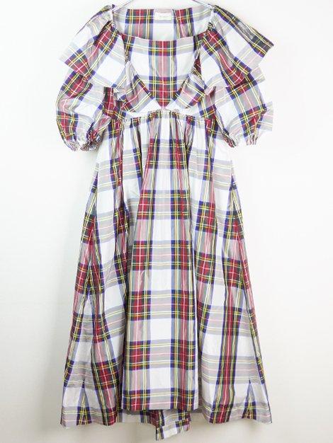 18AW タータンチェックタフタドレス