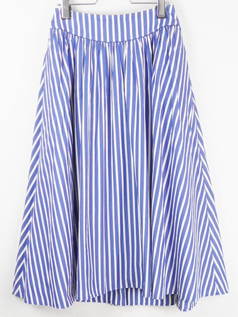 18SS ストライプギャザーフレアースカート