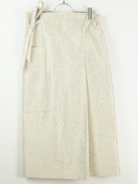 20SS ミックスベージュラップリボンスカート