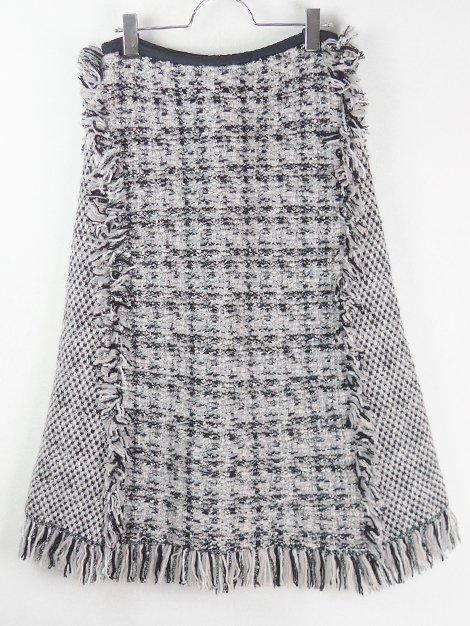 18AW フリンジツィードスカート