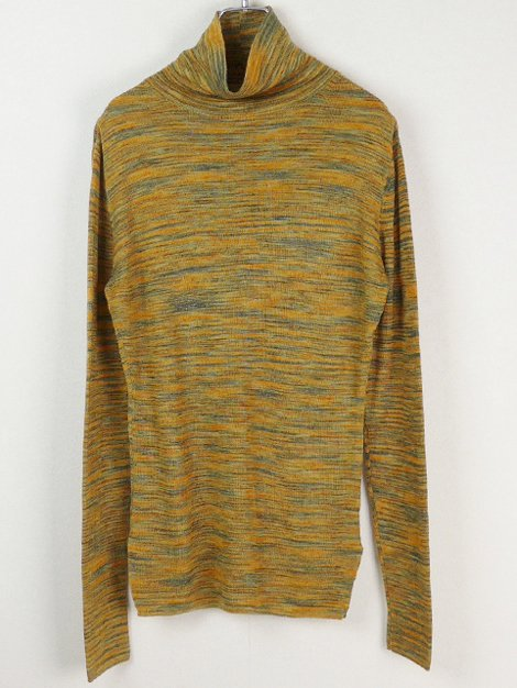 18AW SPACEDYED TURTLE-NECK SWEATER_HIGH G