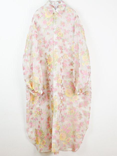 20SS フラワージャガード オーガンジードレス