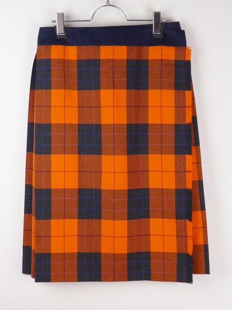 17AW チェックラッププリーツスカート