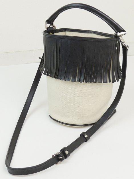 Fringe Bucket Bag/black