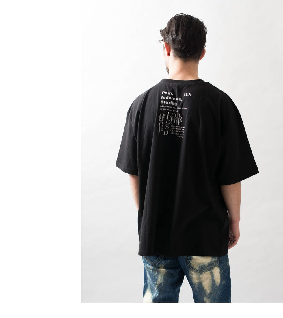 Picture プリントビッグTシャツ(男女兼用)