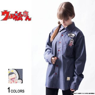 <img class='new_mark_img1' src='//img.shop-pro.jp/img/new/icons5.gif' style='border:none;display:inline;margin:0px;padding:0px;width:auto;' />『ウル松さん』 「おそ松ゾフィー」ポケットシャツ(男女兼用)