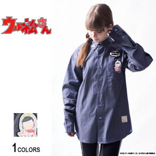 <img class='new_mark_img1' src='//img.shop-pro.jp/img/new/icons5.gif' style='border:none;display:inline;margin:0px;padding:0px;width:auto;' />『ウル松さん』 「カラ松マン」ポケットシャツ(男女兼用)