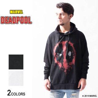 MARVEL『デッドプール』フェイスデザイン サイドジップ・ビッグパーカー(男女兼用)