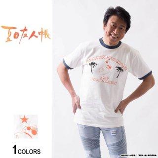『夏目友人帳』井上和彦プロデュース ニャンコ先生「極楽」Tシャツ(リンガーTシャツ ver.)(男女兼用)