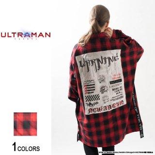 『ULTRAMAN』 ウルトラマン セブン エース グラフィック切り貼りチェックシャツ(男女兼用)