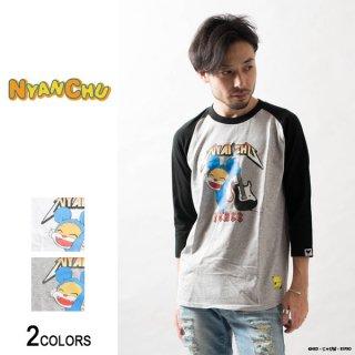 ニャンちゅう ROCK ラグラン7分袖Tシャツ(男女兼用)