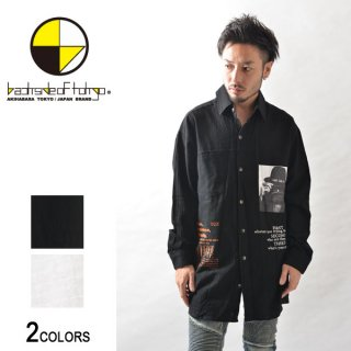 ロゴ&シートプリントビッグシャツ(男女兼用)