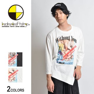 With out You ターゲットガール変型7分丈Tシャツ(男女兼用)
