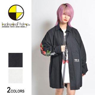 Sleeve ROSEプリントビッグシャツ(男女兼用)