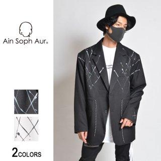 【AinSophAur】ドローコード付きペイントジャケット(男女兼用)