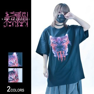 【東京裏側】MAD KITTY ビッグTシャツ(男女兼用)