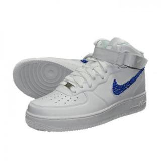 NIKE AirForce1 MID Custom Swarovski Plain(W-CB)