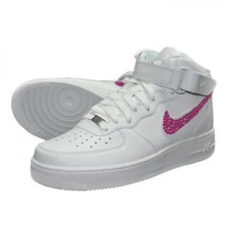 NIKE AirForce1 MID Custom Swarovski Plain(W-F)