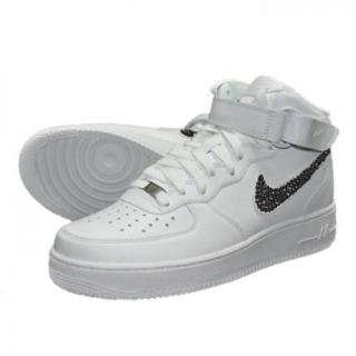 NIKE AirForce1 MID Custom Swarovski Plain(W-J)