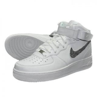 NIKE AirForce1 MID Custom Swarovski Plain(W-BD)
