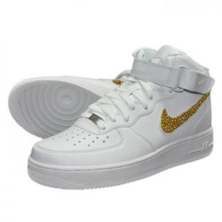 NIKE AirForce1 MID Custom Swarovski Plain(W-LT)