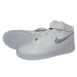 NIKE AirForce1 MID Custom Swarovski Plain(W-CRY)