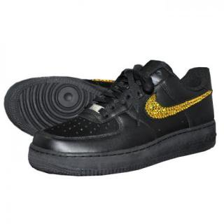 NIKE AirForce1 LOW Custom Swarovski Plain(B-LT)