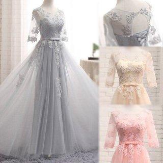 プリンセスラインがスイートなロングドレス ウェディング パーティー