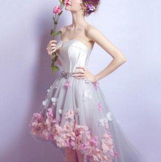 ふんわり可愛いフィッシュテールのウェディングドレス/前撮り後撮り